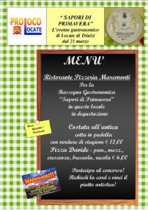 menu maremonti 2017